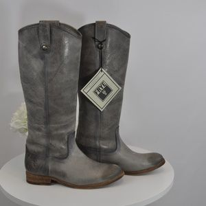 NIB /NWT Frye Melissa Button Boots - Ice.  Size 7.